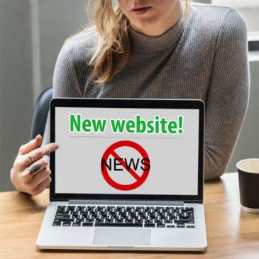 Nieuwe website? Aardig, maar niet nieuwswaardig!