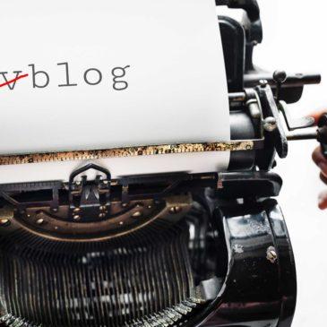 Waarom ik niet vlog (maar wel blog)