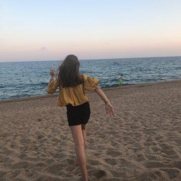 Met mijn dochter in de Spaanse Zon