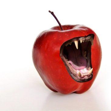 Schelden met fruit